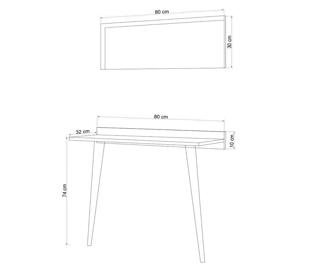 Set - konzolna miza in ogledalo Venezia