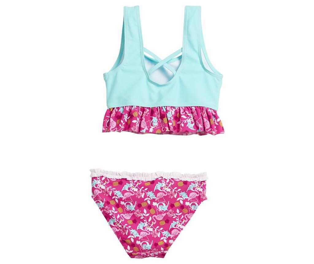 Costum de baie copii 2 piese Flamingo Blue 5-6 ani