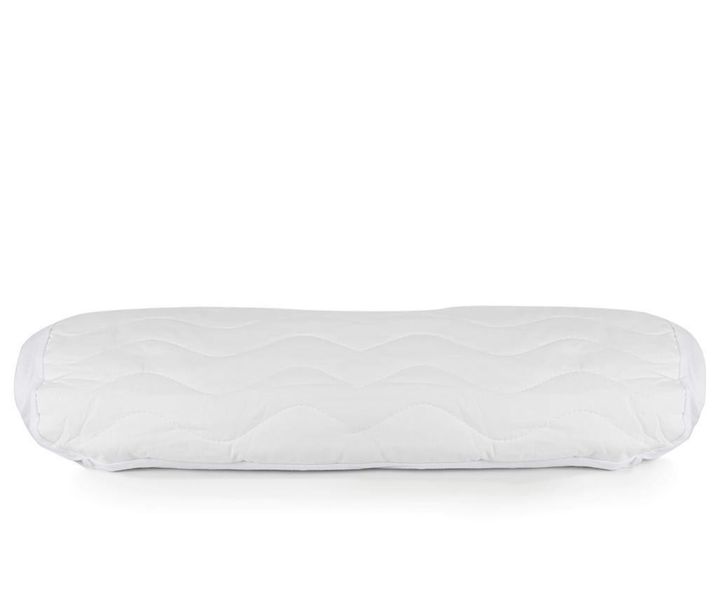 Protectie matlasata pentru saltea Isidore White 100x200 cm