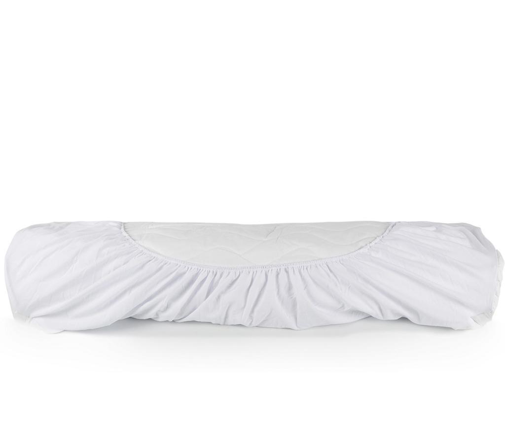 Protectie matlasata pentru saltea Isidore White 180x200 cm