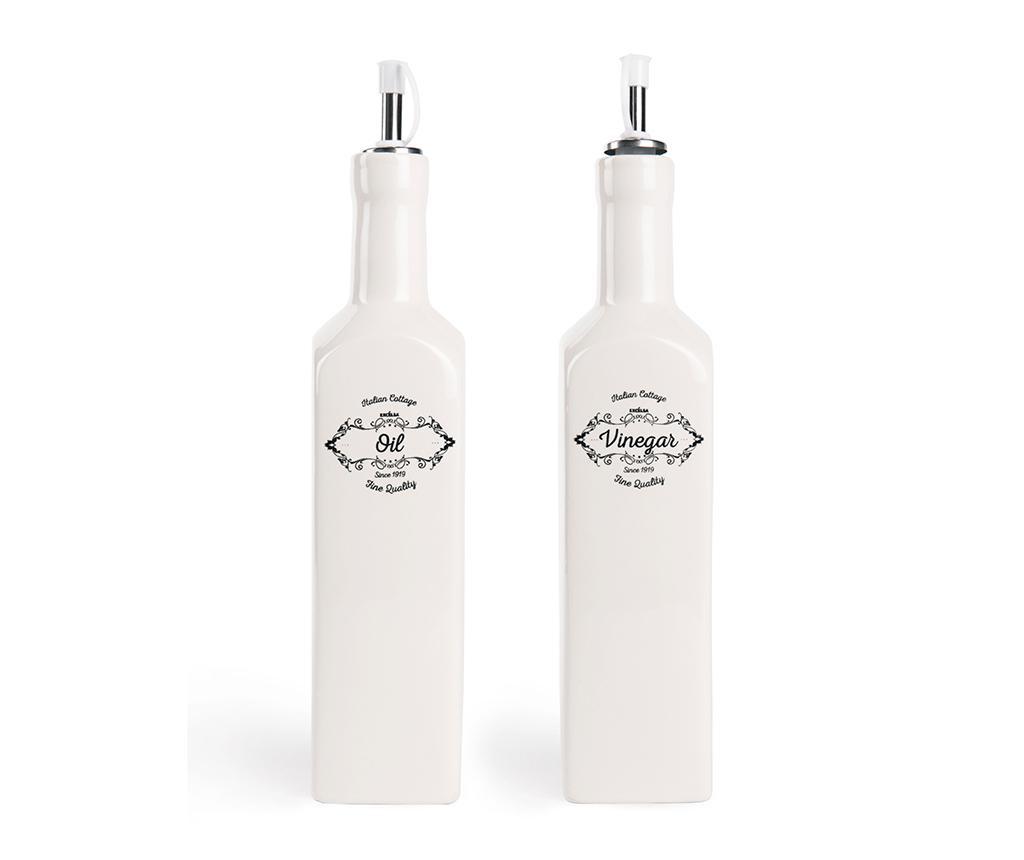 Set 2 recipiente pentru ulei si otet Fine