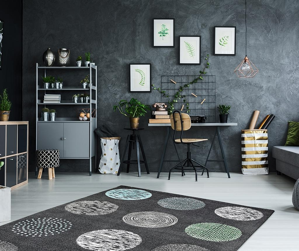 Килим My Bronx Anthracite Dots 160x230 см