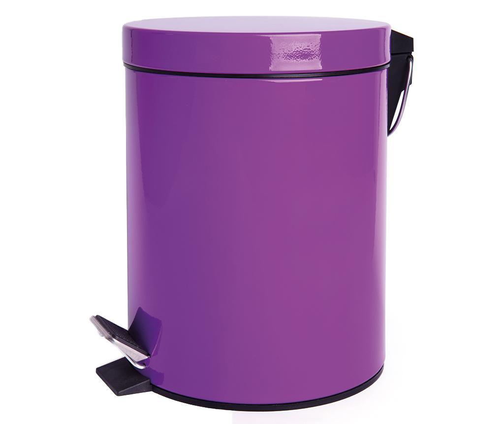 Cos de gunoi cu capac si pedala Complete Lilac 12 L