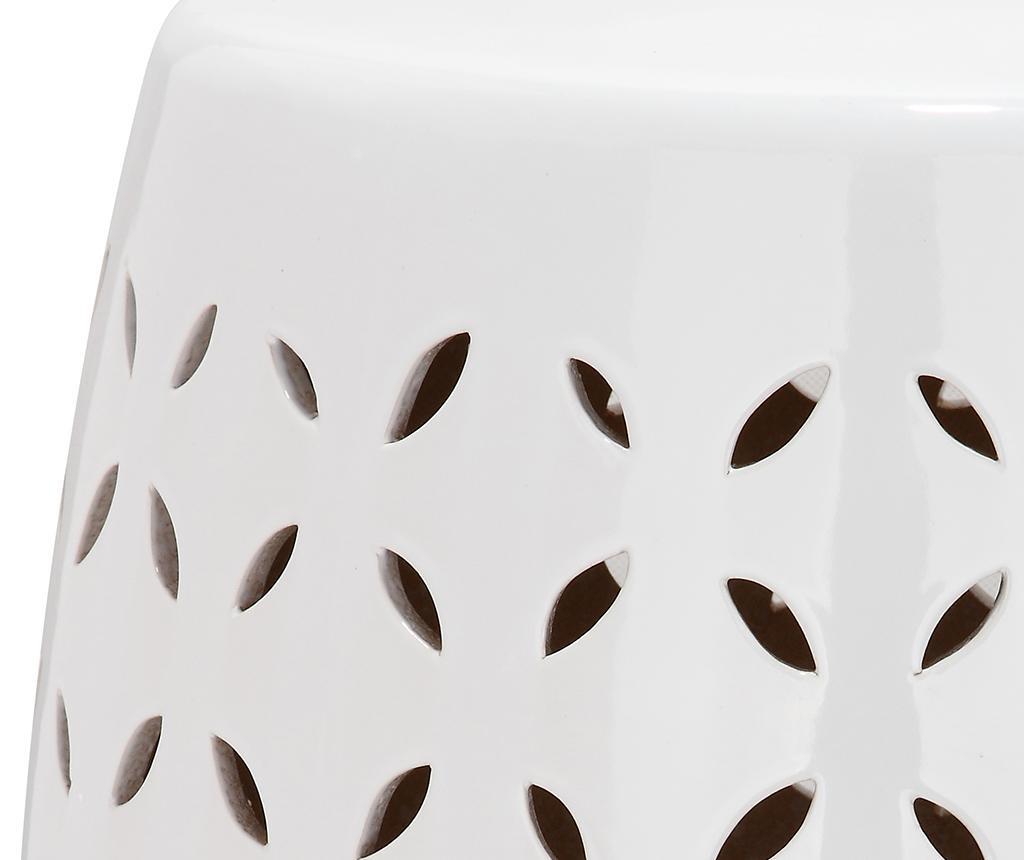 Taburet decorativ Mindoro White