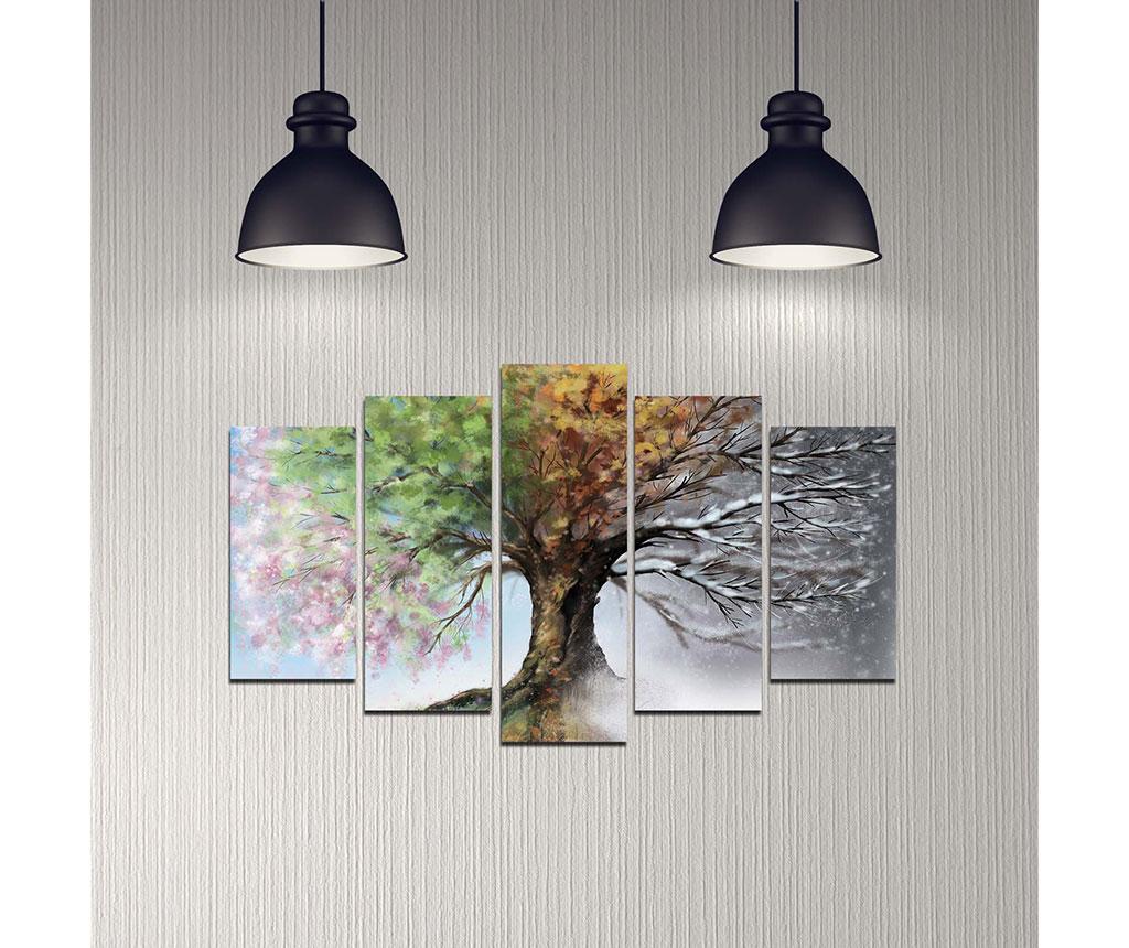 Set 5 tablouri Seasons Tree