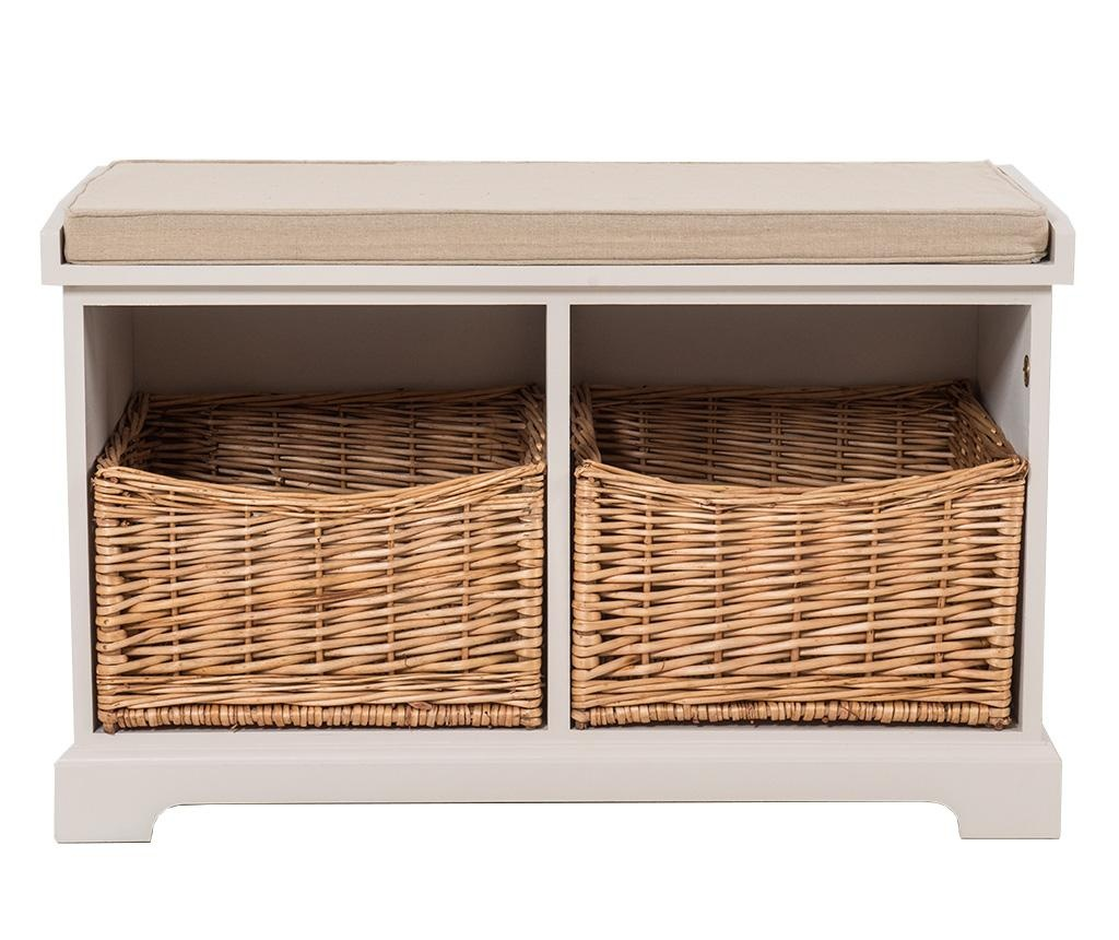 Bancheta Rustic Old White Two