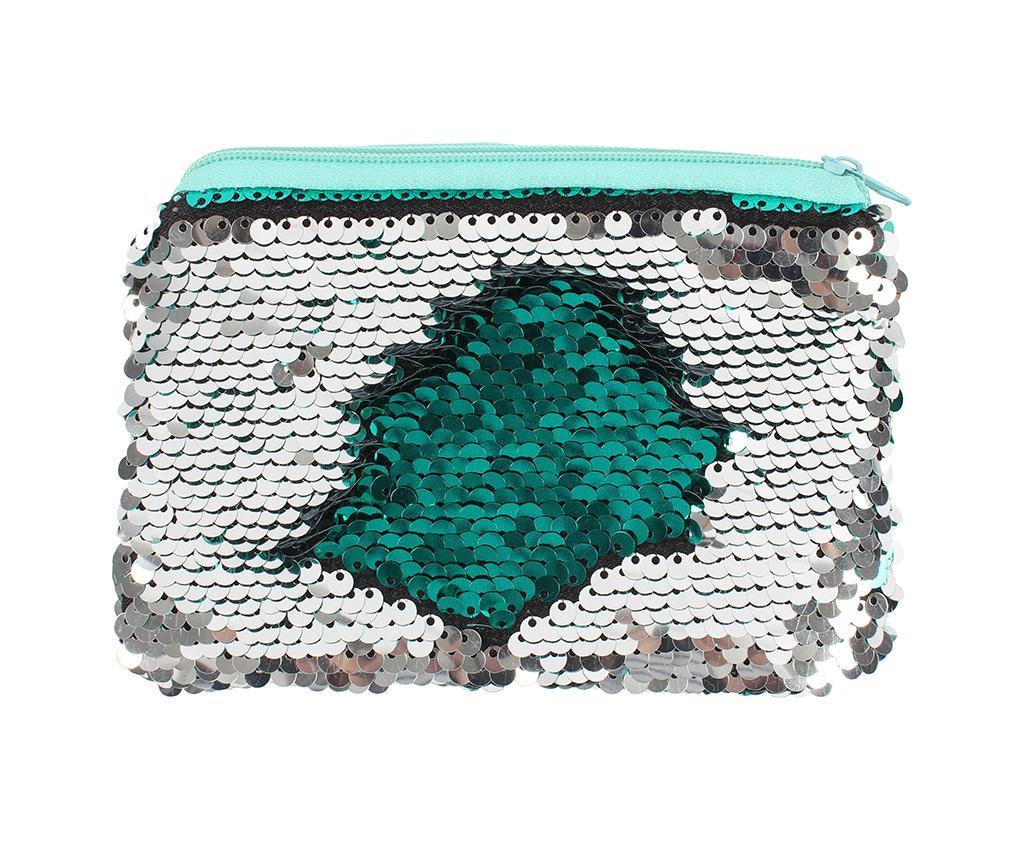 Portfard Sequin Green and Silver