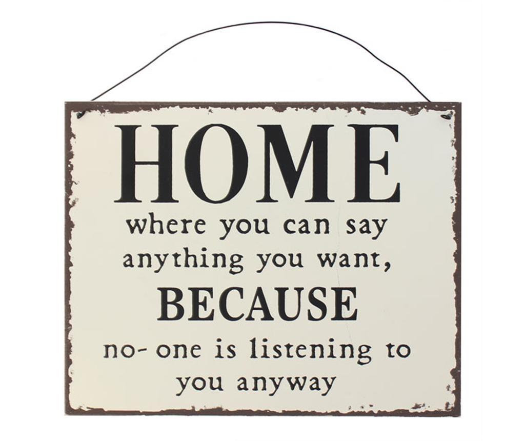 Decoratiune de perete Home Quote