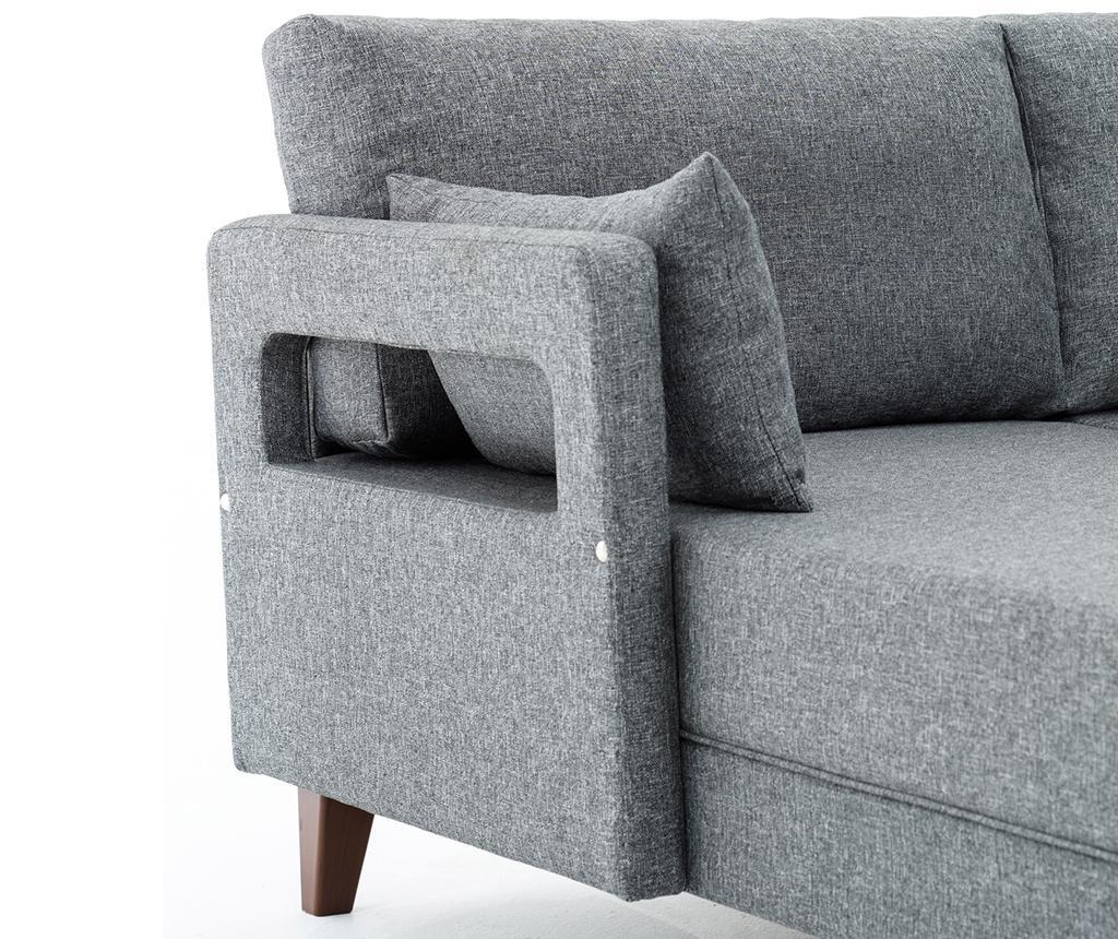 Set lijeva kutna garnitura  i tabure za noge Comfort Grey