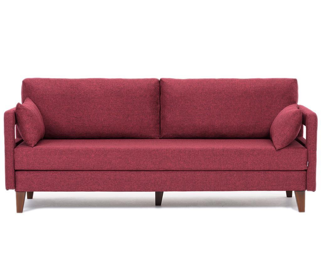 Rozkładana kanapa 3-osobowa Comfort Claret Red