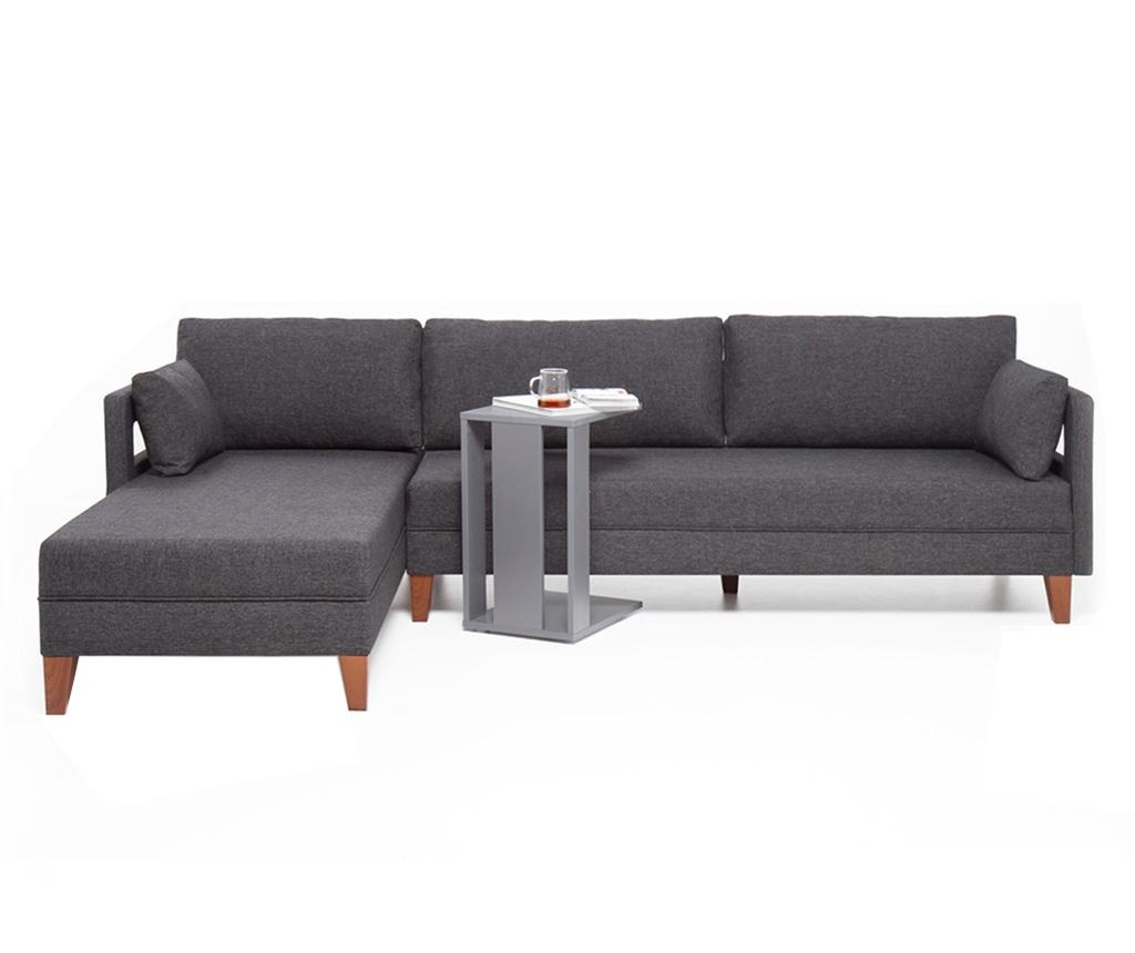 Modularna leva kotna sedežna garnitura Comfort Grey