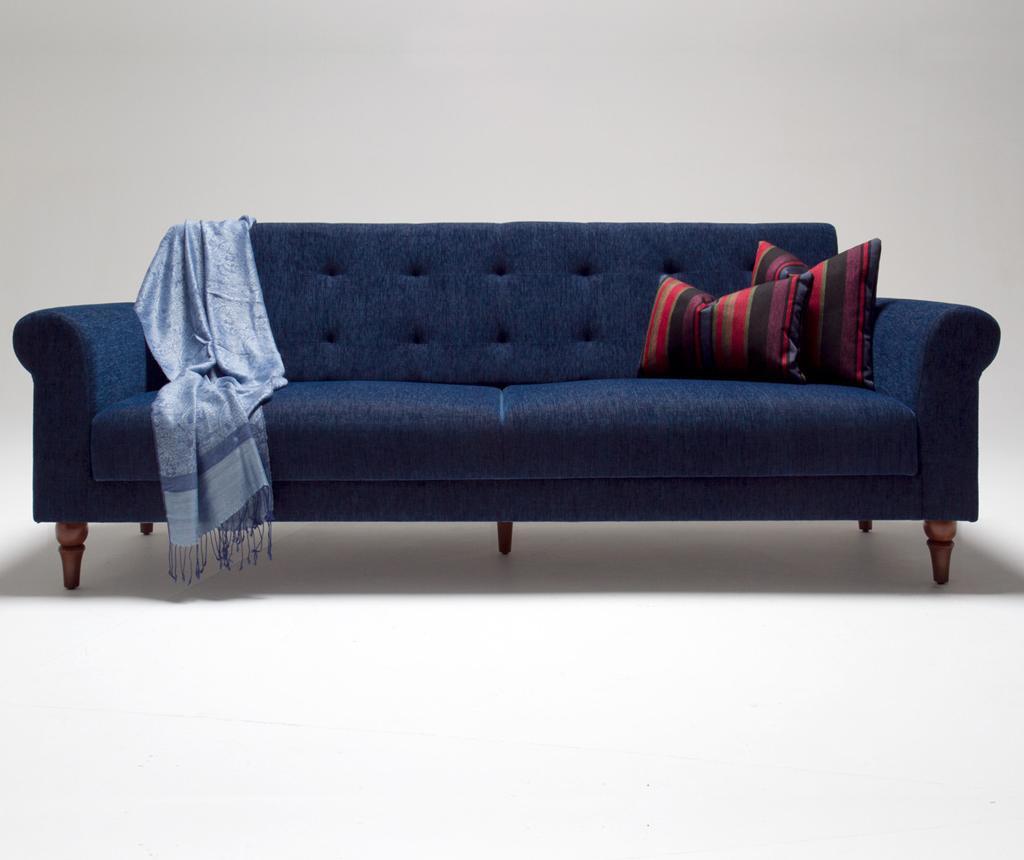 Madona Dark Blue Kihúzható háromszemélyes kanapé