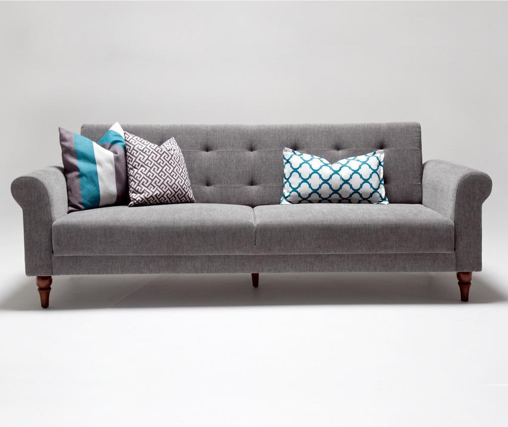 Canapea extensibila 3 locuri Madona Grey