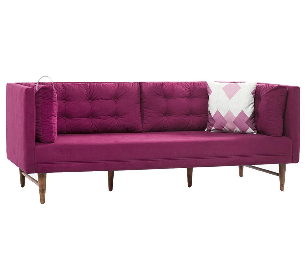 Canapea 3 locuri Point Pink
