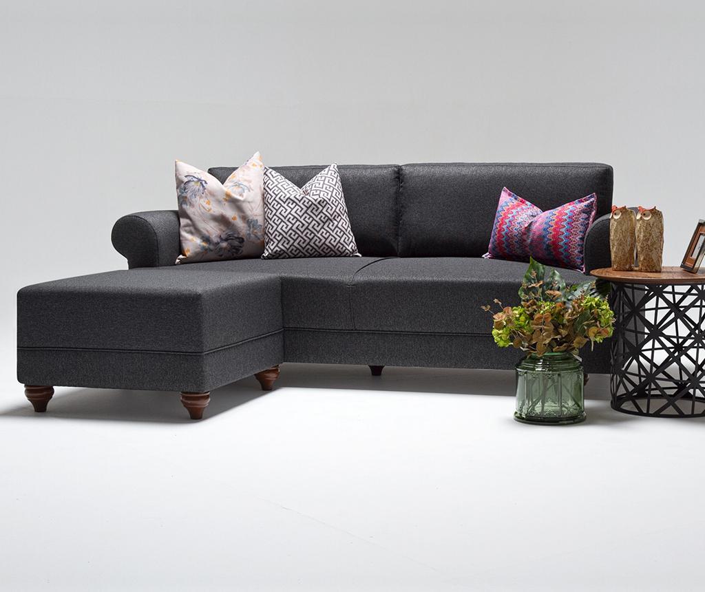Set kauč trosjed i tabure za noge Samara Grey