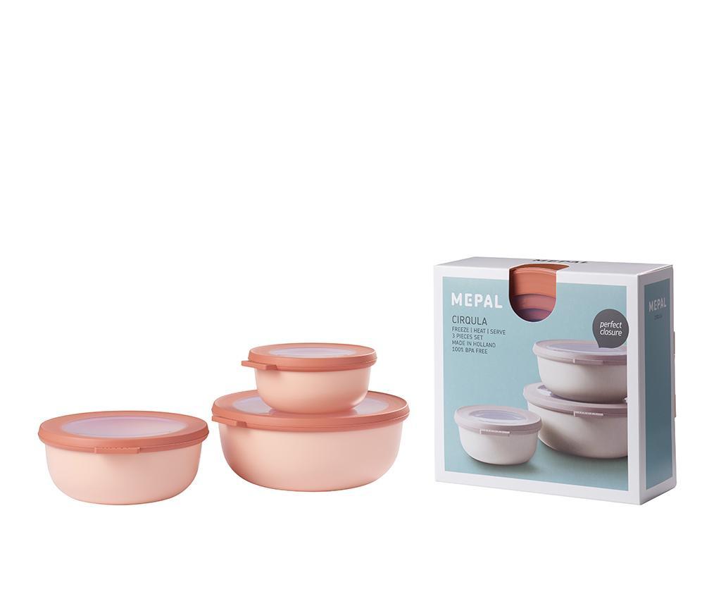 Set 3 caserole Daian Pink