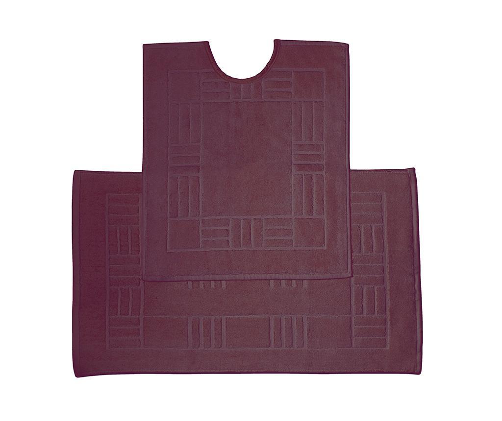 Комплект кърпа за крака и килим за баня Reversible Verica Damson