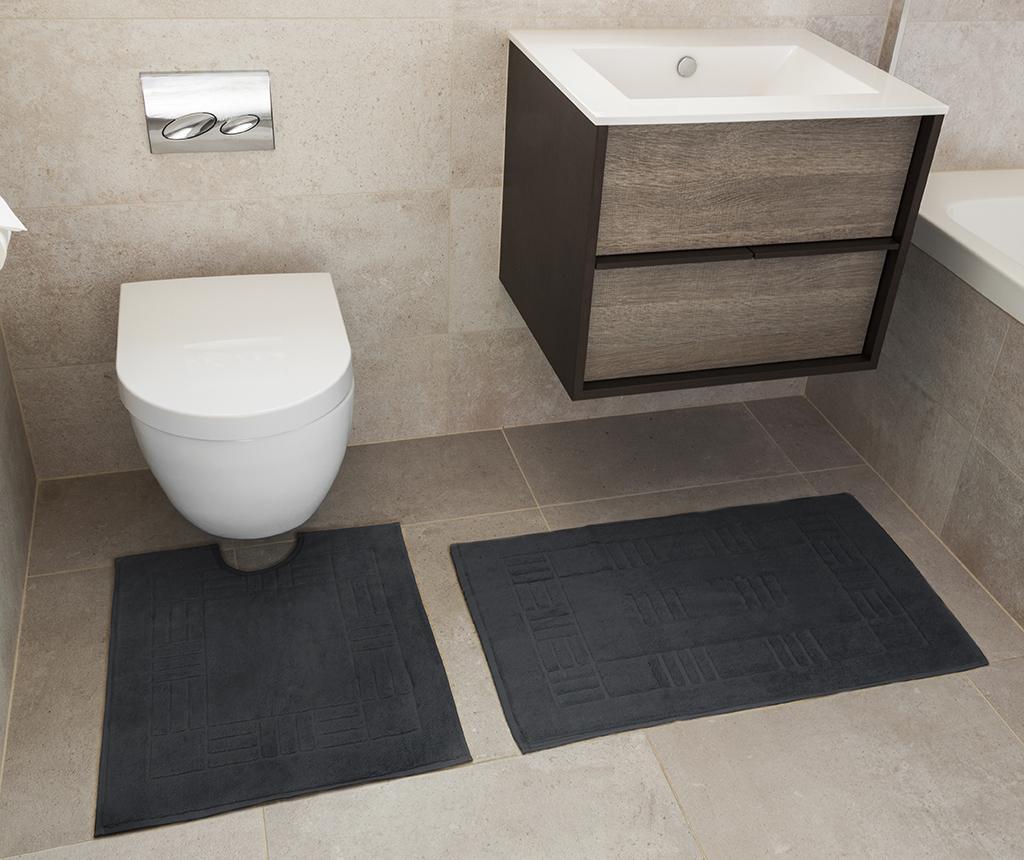 Reversible Verica Grey Fürdőszobai kilépő és szőnyeg