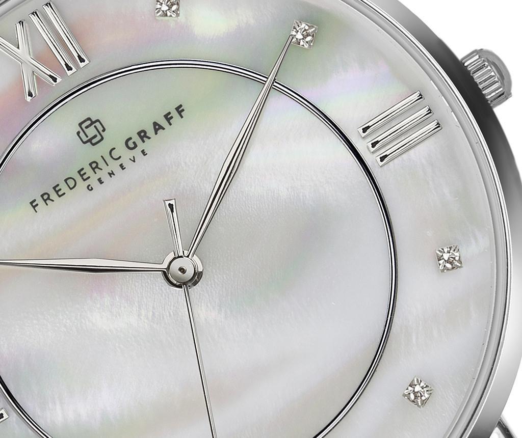 Дамски ръчен часовник Frederic Graff Liskamm Grey Silver