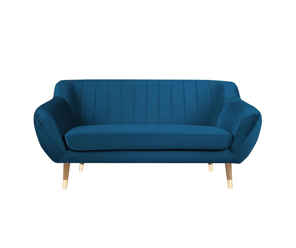 Canapea 2 locuri Benito Blue Natural