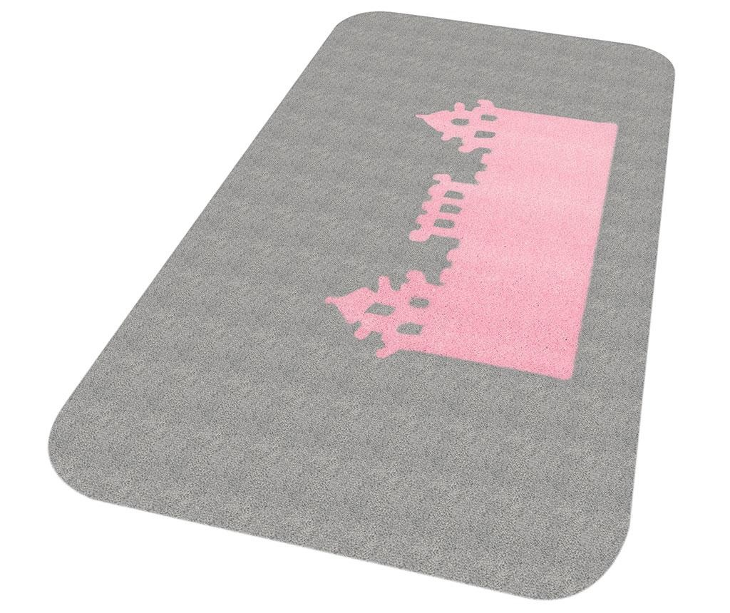 Covor Kingdom Pax Grey Pink 67x120 cm