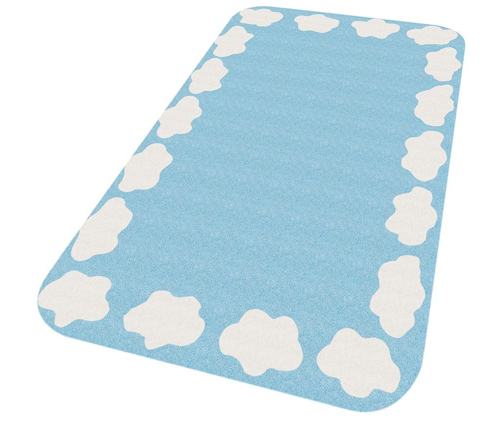 Preproga Cloud Edge Blue 67x120 cm