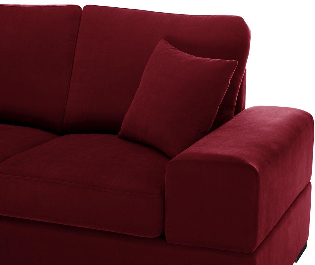 Canapea extensibila 3 locuri Dasha Glamour Red