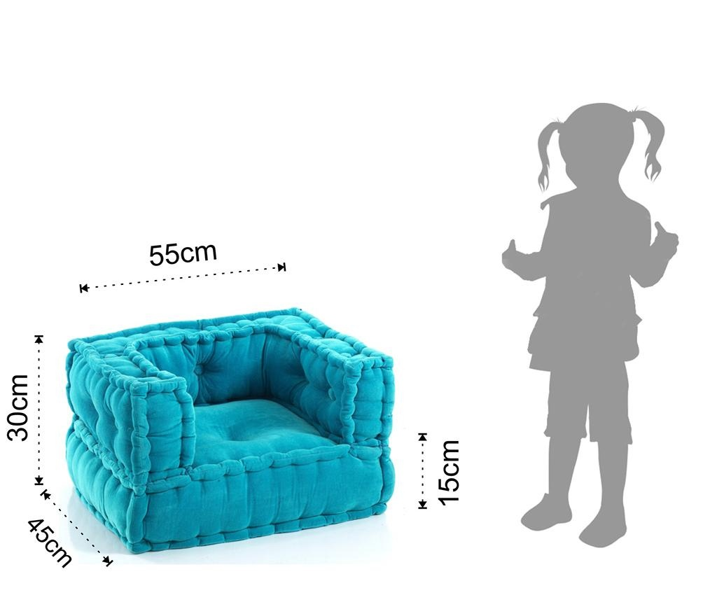 Puf pentru copii Yantra Light Blue