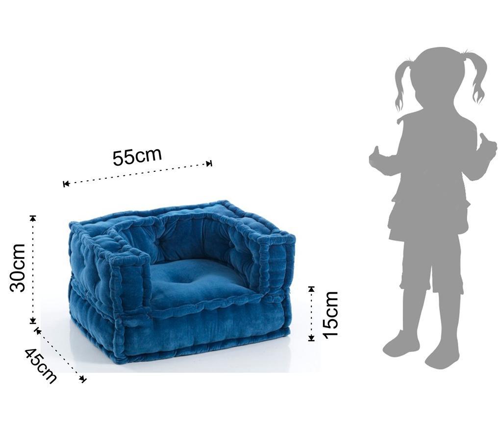Puf pentru copii Yantra Blue