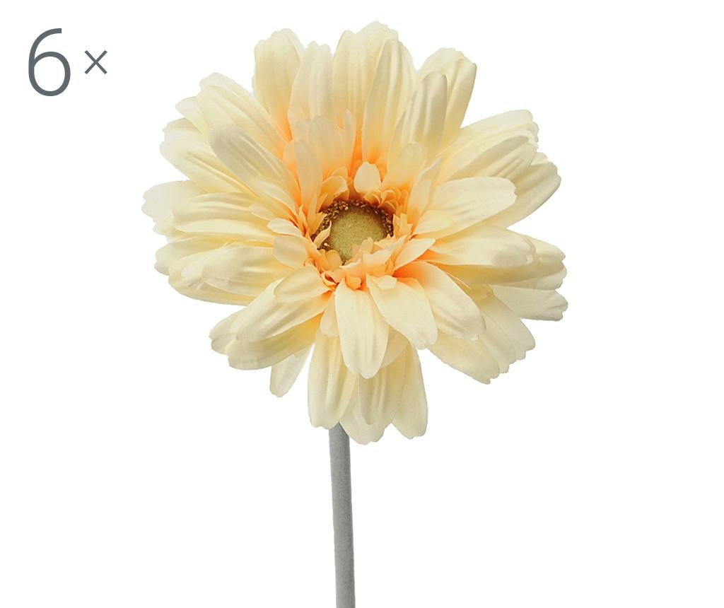 Set 6 flori artificiale Transvaal Daisy Yellow