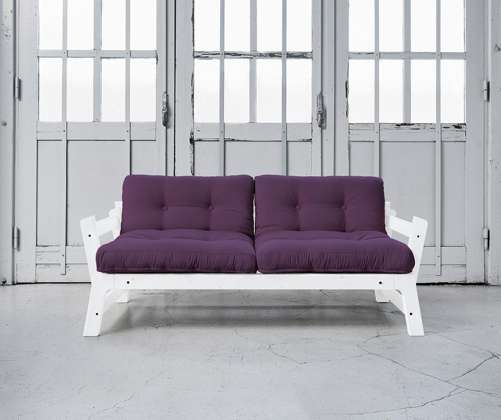 Sofa extensibila Step Lonetta White and Purple