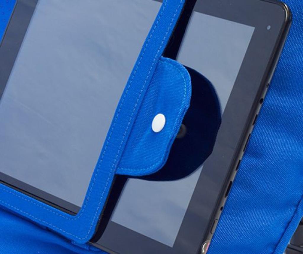 Perna decorativa cu suport pentru tableta Zyron Blue 44x44 cm