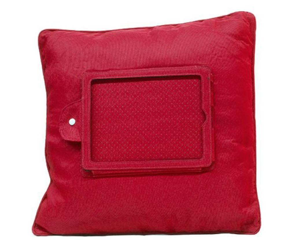 Perna decorativa cu suport pentru tableta Zyron Red 44x44 cm