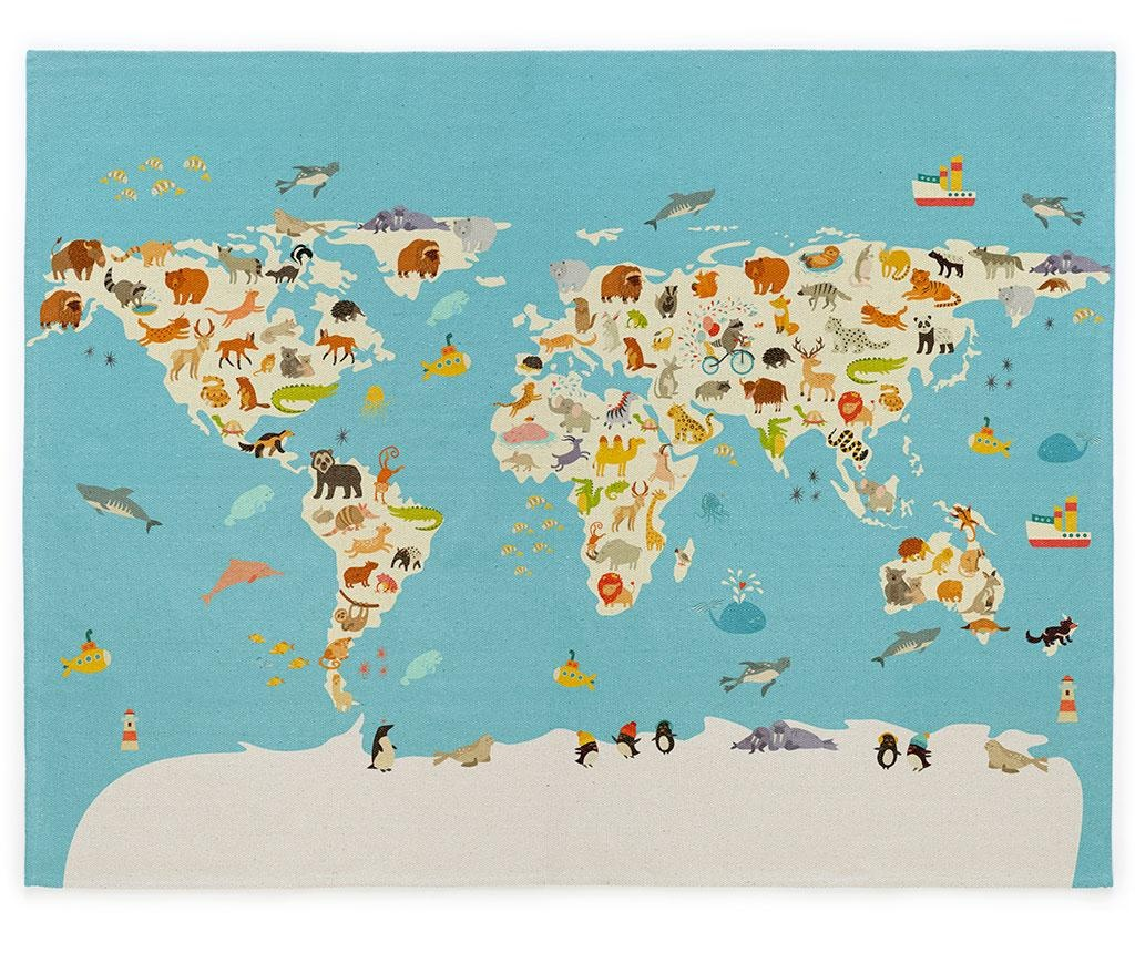 Covor World Map 100x150 cm