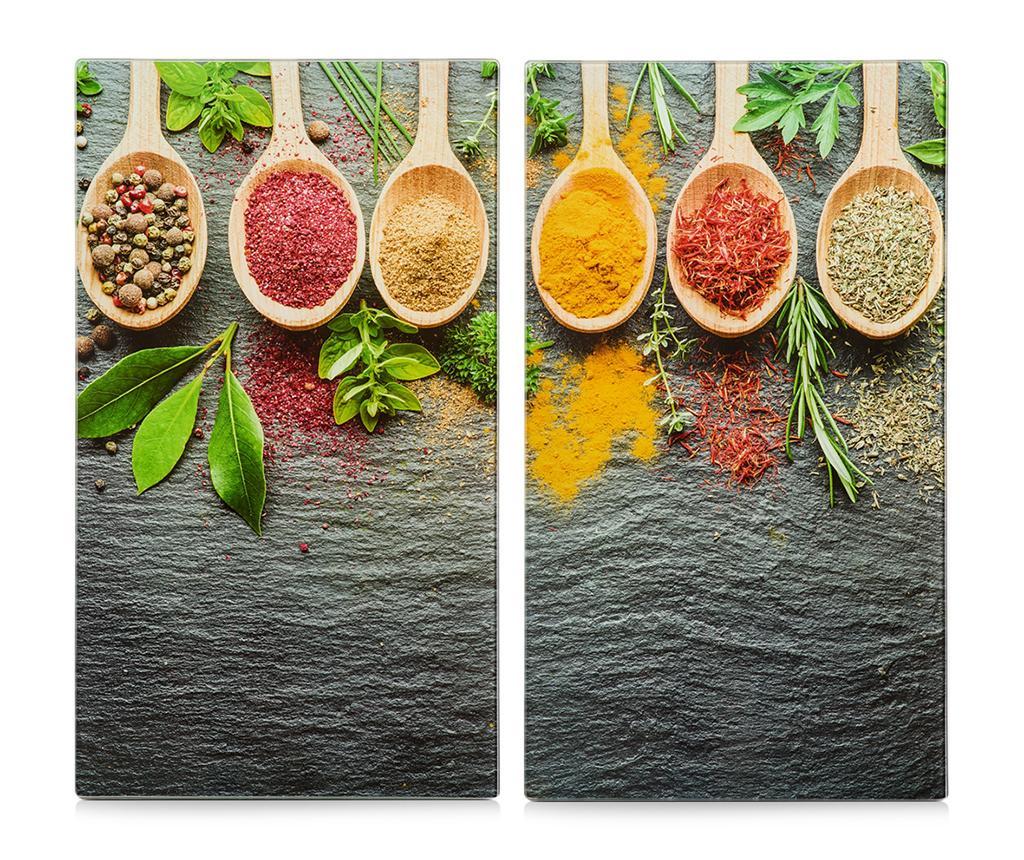 Set 2 planse protectoare pentru plita Spices