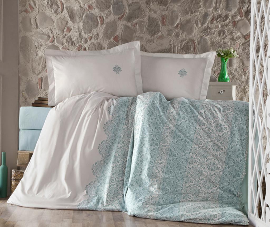 Posteljnina King Ranforce Tiara Turquoise 200x220