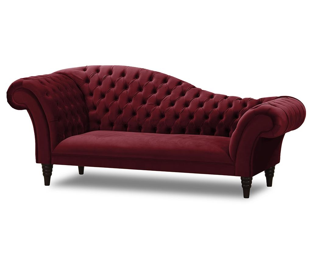 Lehátko do obýváku Chester French Velvet Bordeaux