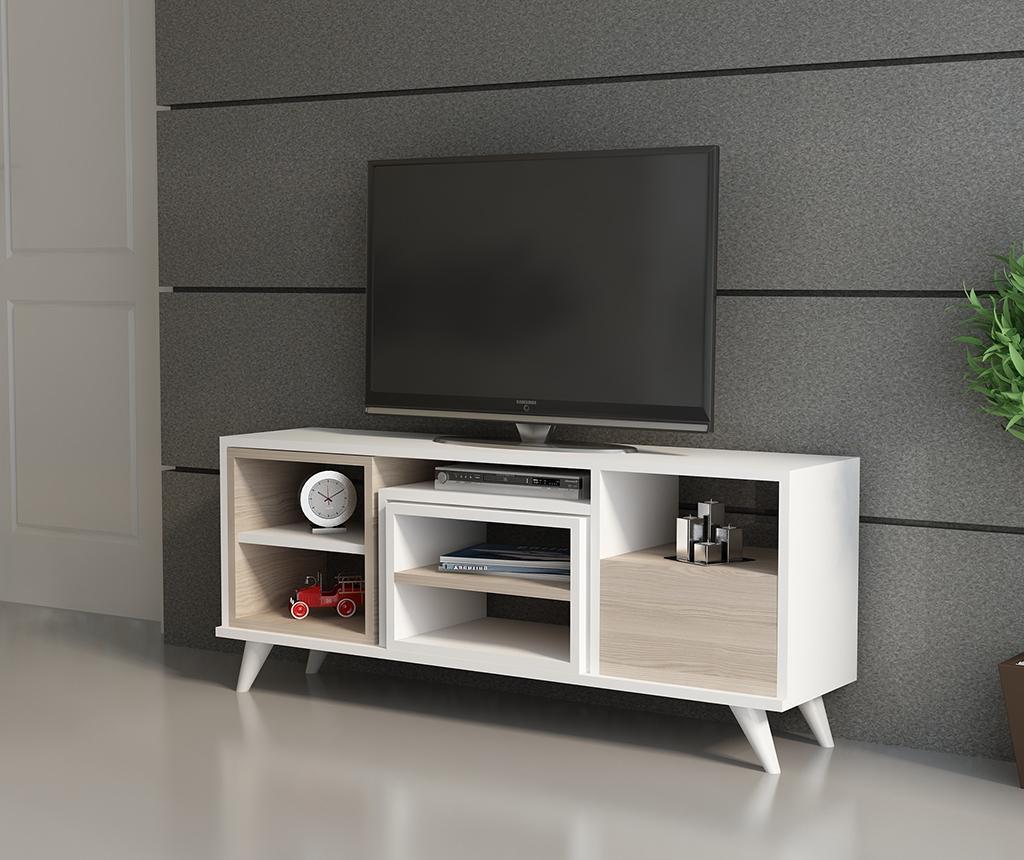 Комплект комода TV и 2 масички за кафе Selin  White Cordoba