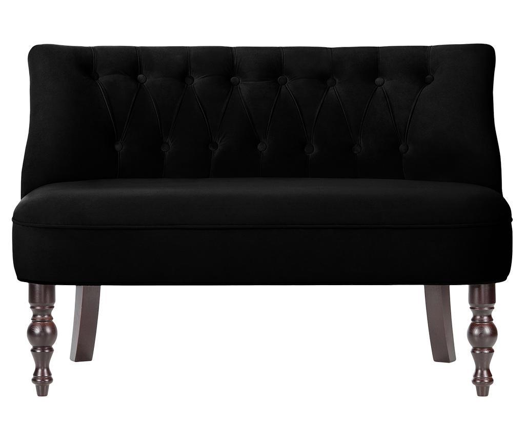 Canapea 2 locuri Dentelle Black