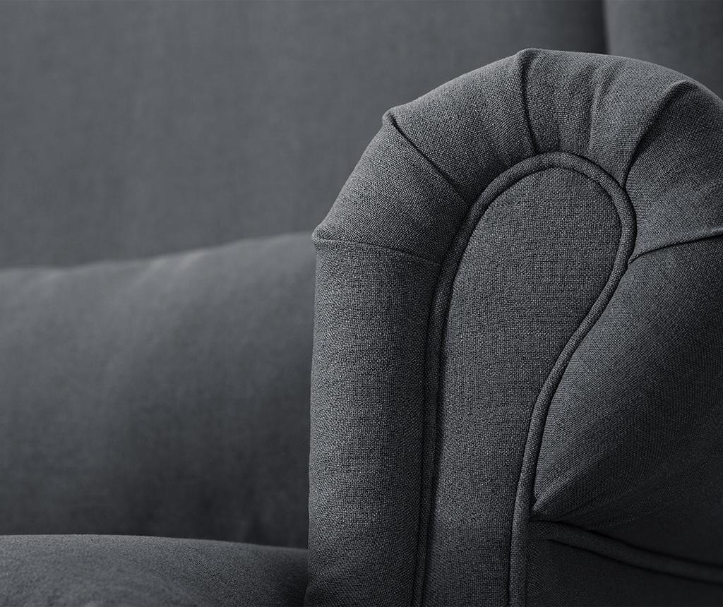Canapea 3 locuri Alpaga Anthracite