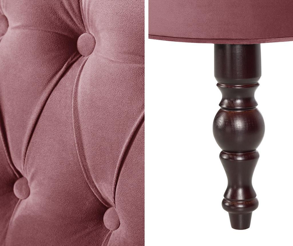 Canapea 2 locuri Dentelle Dark Pink