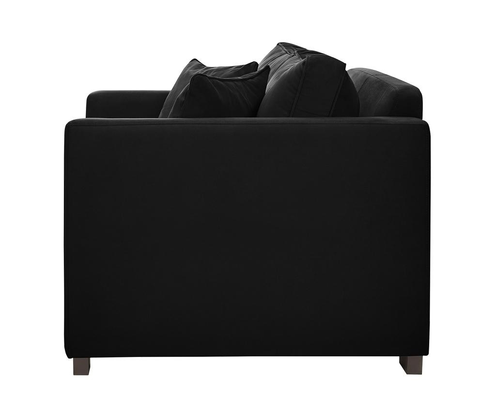 Canapea 2 locuri Taffetas Black