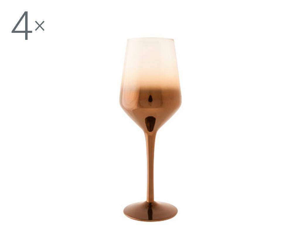 Set 4 pahare pentru vin Olik 320 ml