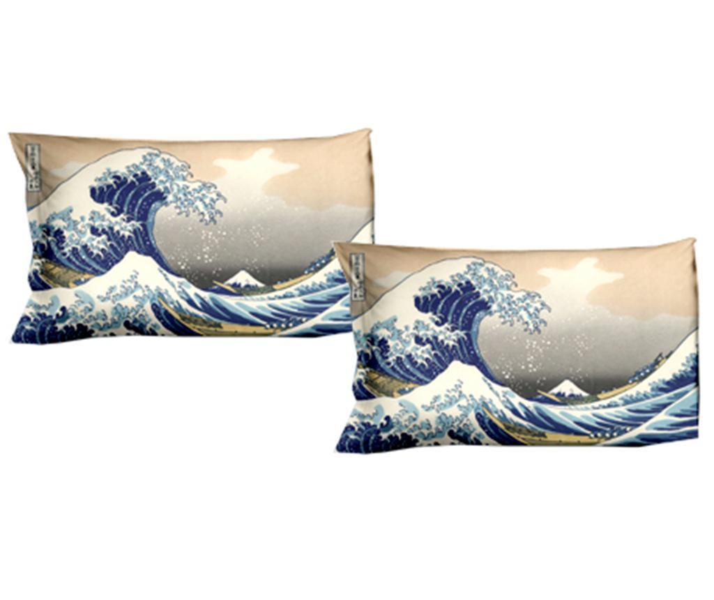 Set 2 fete de perna Hokusai The Great Wave 50x80 cm