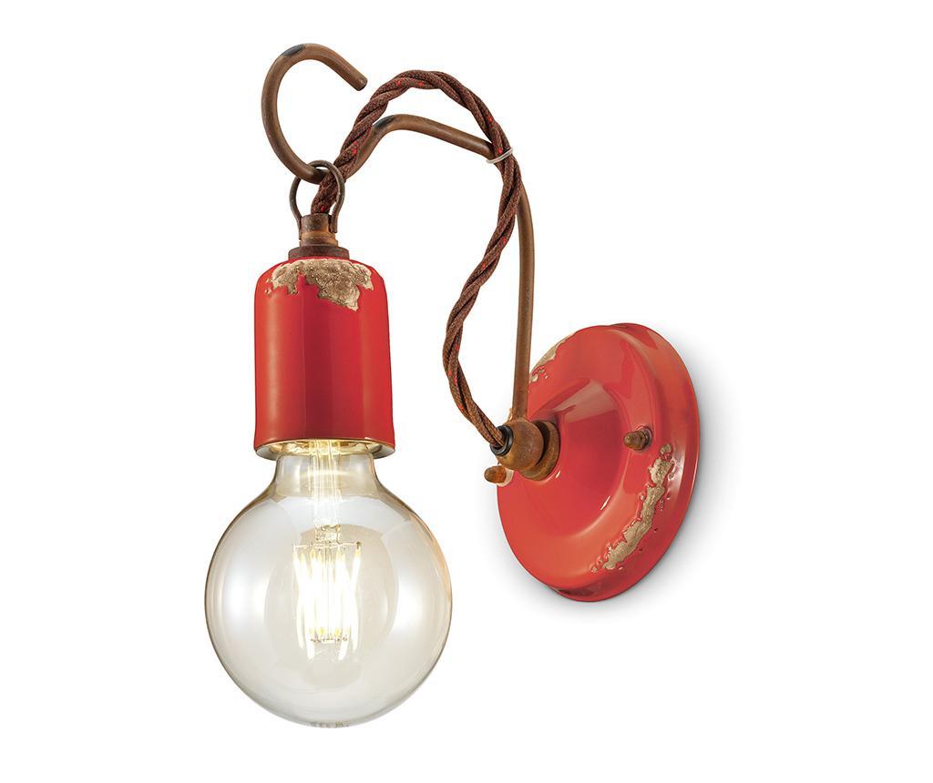 Zidna svjetiljka Vintage Rope Red