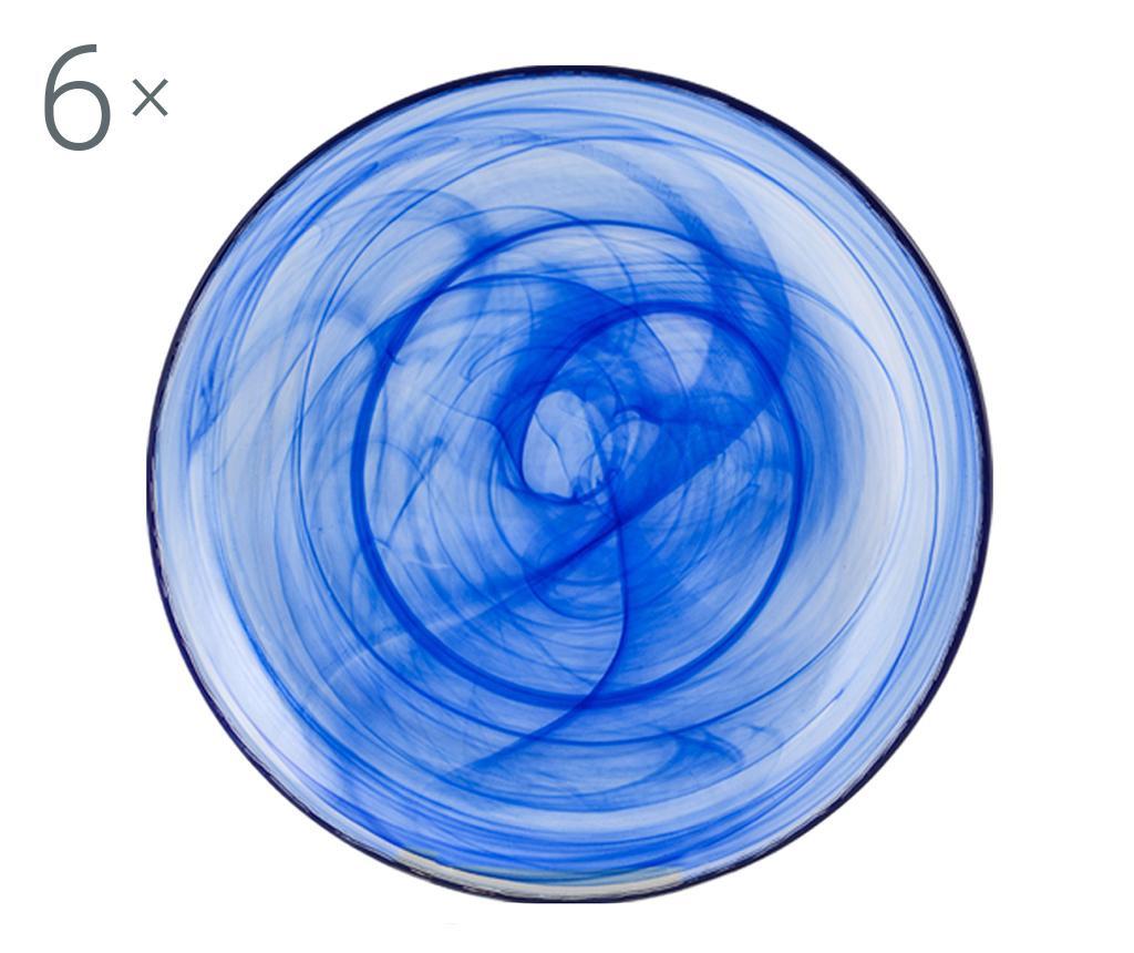 Alabastro Blue 6 db Mélytányér
