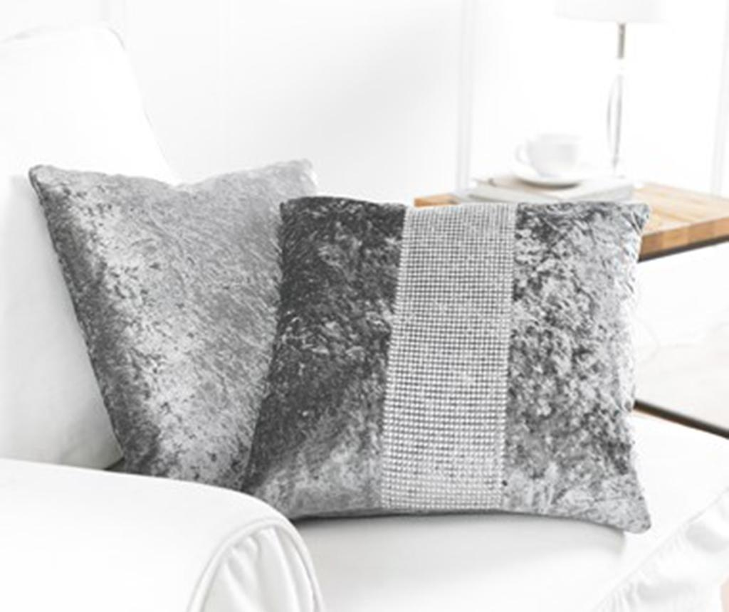 Set 2 prevlek za blazino Diamante Grey 43x43 cm