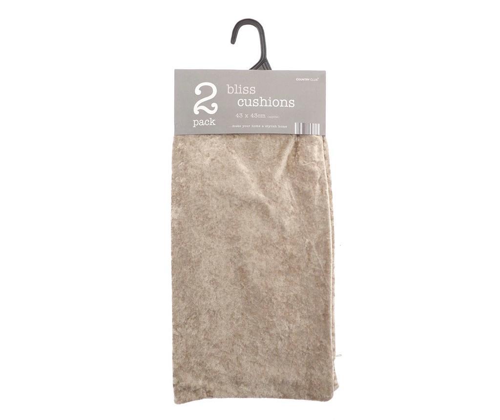 Set 2 fete de perna Bliss Cream 43x43 cm