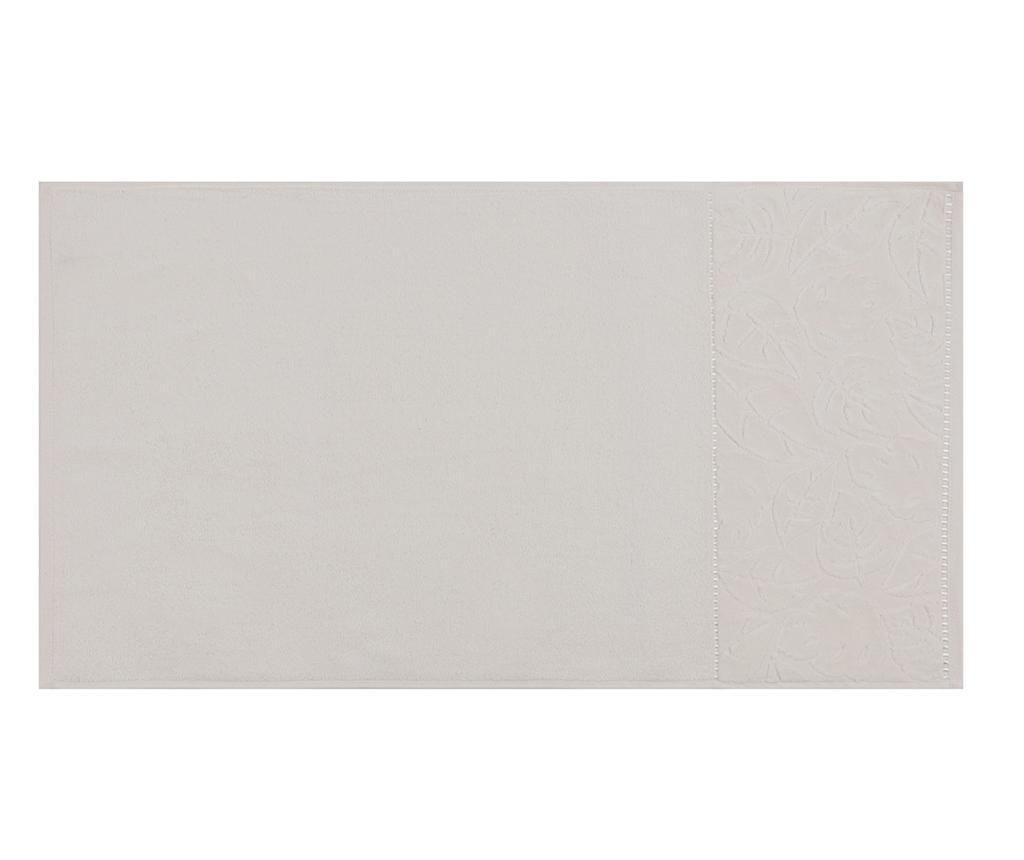 Set 2 prosoape de baie Kismi Kadife Yaprak Cream 50x90 cm