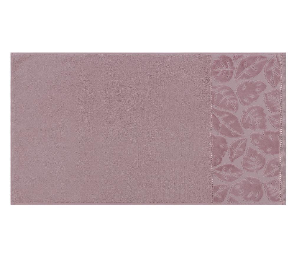 Set 2 prosoape de baie Kismi Kadife Yaprak Dusty Purple 50x90 cm